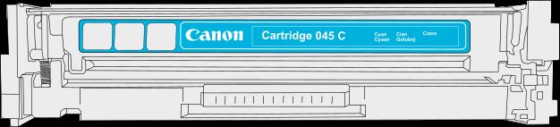 Toner Canon 045m pro laserové tiskárny Canon. Barva:azurová.