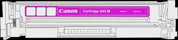 Toner Canon 045m pro laserové tiskárny Canon. Barva:purpurová.