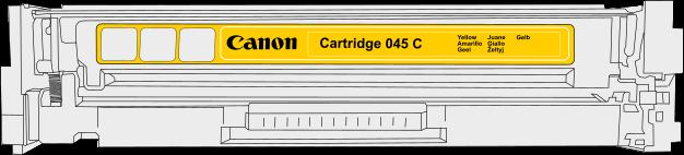 Toner Canon 045y pro laserové tiskárny Canon. Barva:žlutá.