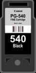 Cartridge Canon 540 (PG-540) pro inkoustové tiskárny Canon. Barva:černá.
