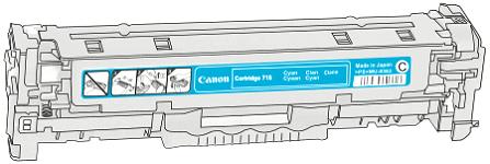 Toner Canon 718c pro laserové tiskárny Canon. Barva:azurová.