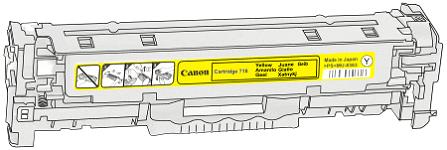 Toner Canon 718y pro laserové tiskárny Canon. Barva:žlutá.