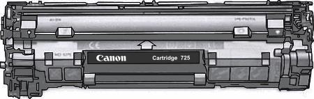 Toner Canon 725bk pro laserové tiskárny Canon. Barva:černá.