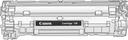 Toner Canon 728bk pro laserové tiskárny Canon. Barva:černá.