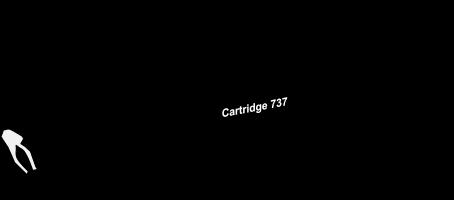 Toner Canon 737bk pro laserové tiskárny Canon. Barva:černá.