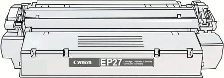 Toner Canon EP27 pro laserové tiskárny Canon. Barva:černá.