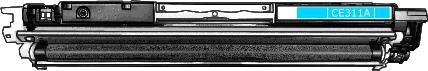 Toner HP 126A (CE311A) pro laserové tiskárny HP. Barva:azurová.