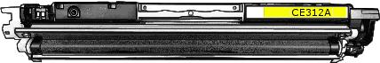 Toner HP 126A (CE312A) pro laserové tiskárny HP. Barva:žlutá.