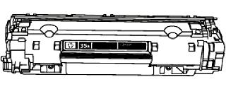 Toner HP 35A (CB435A) pro laserové tiskárny HP. Barva:černá.