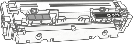 Toner HP 410A (CF410A) pro laserové tiskárny HP. Barva:černá.