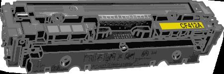 Toner HP 410A (CF412A) pro laserové tiskárny HP. Barva:žlutá.