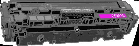 Toner HP 410A (CF413A) pro laserové tiskárny HP. Barva:purpurová.