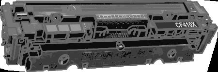 Toner HP 410X (CF410X) pro laserové tiskárny HP. Barva:černá.