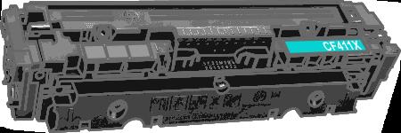 Toner HP 410X (CF411X) pro laserové tiskárny HP. Barva:azurová.
