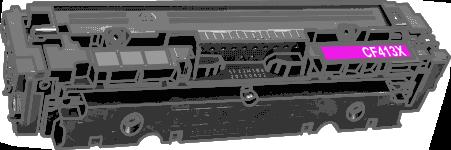 Toner HP 410X (CF413X) pro laserové tiskárny HP. Barva:purpurová.