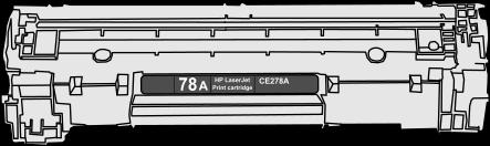 Toner HP 78A (CE278A) pro laserové tiskárny HP. Barva:černá.
