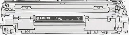 Toner HP 79A (CF279A) pro laserové tiskárny HP. Barva:černá.