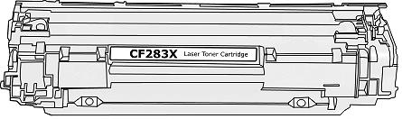Toner HP 83X (CF283X) pro laserové tiskárny HP. Barva:černá.