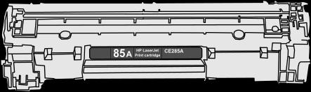 Toner HP 85A (CE285A) pro laserové tiskárny HP. Barva:černá.