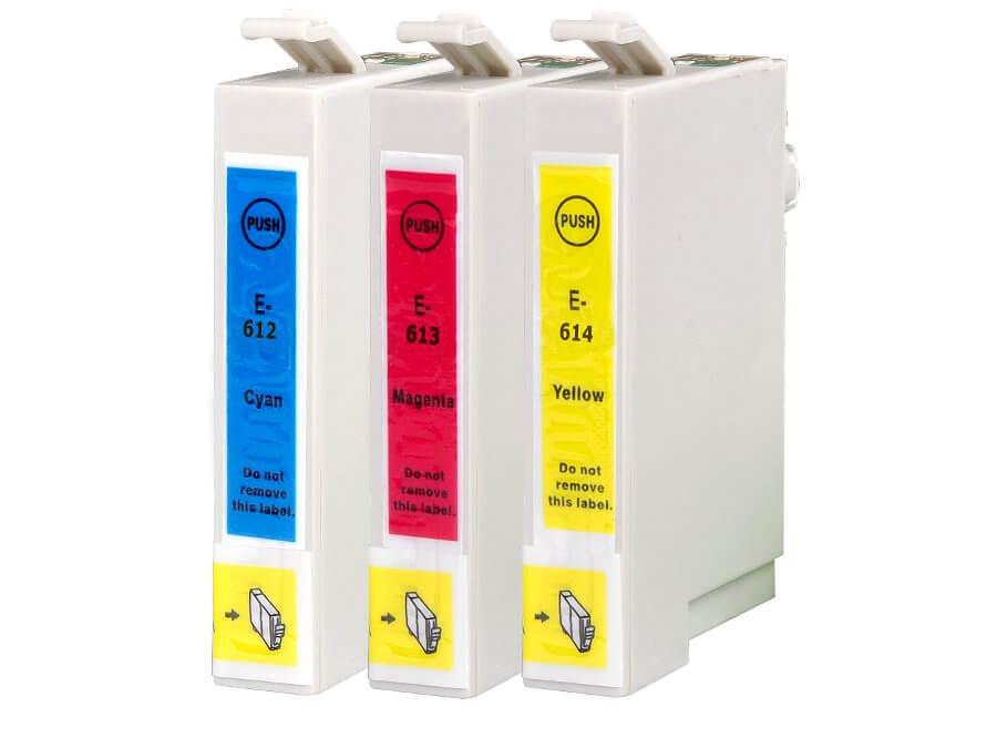 Epson T0612 T0613 T0614 multipack kompatibilní inkoustová cartridge pro inkoustové tiskárny Epson