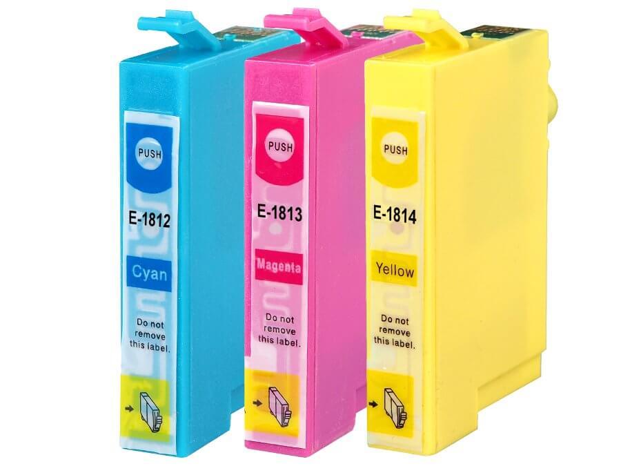 Epson T1812 T1813, T1814 kompatibilní inkoustové cartridge pro inkoustové tiskárny Epson