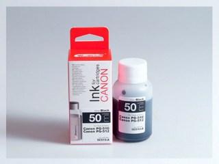 Samostatný černý inkoust pro doplnění originální cartridge Canon  510, PG-510