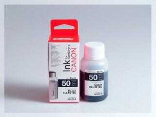 Samostatný černý inkoust pro doplnění originální cartridge Canon 521, CLI-521BK