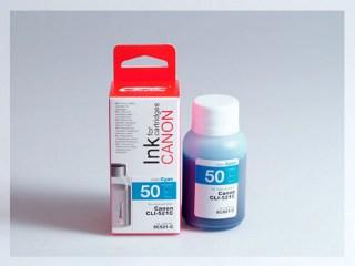 Samostatný azurový inkoust pro doplnění originální cartridge Canon 521, CLI-521C