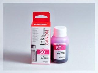 Samostatný purpurový inkoust pro doplnění originální cartridge Canon 521, CLI-521M