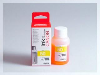Samostatný žlutý inkoust pro doplnění originální cartridge Canon 521, CLI-521Y