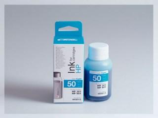 Samostatný azurový inkoust pro doplnění originální cartridge HP 301, CH562EE / 301Xl, CH564EE / 901, CC656AE