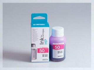 Samostatný purpurový inkoust pro doplnění originální cartridge HP 301, CH562EE / 301Xl, CH564EE / 901, CC656AE