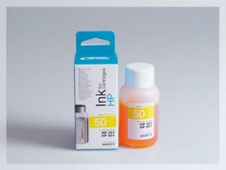 Samostatný žlutý inkoust pro doplnění originální cartridge HP 301, CH562EE / 301Xl, CH564EE / 901, CC656AE