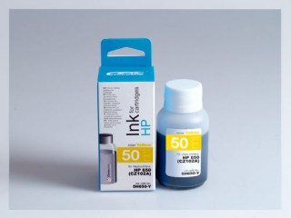 Samostatný žlutý inkoust pro doplnění originální cartridge HP 650, CZ102AE