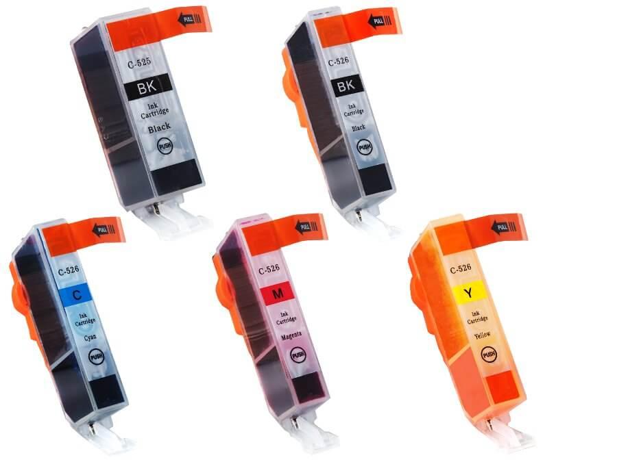 Kompatibilní inkoustová cartridge Canon PGI-525PGBk + CLI-526BkCMY pro inkoustové tiskárny Canon