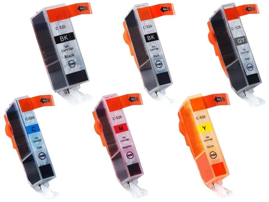 Kompatibilní inkoustová cartridge  PGI-525PGBk + CLI-526BkCMYGy pro inkoustové tiskárny Canon