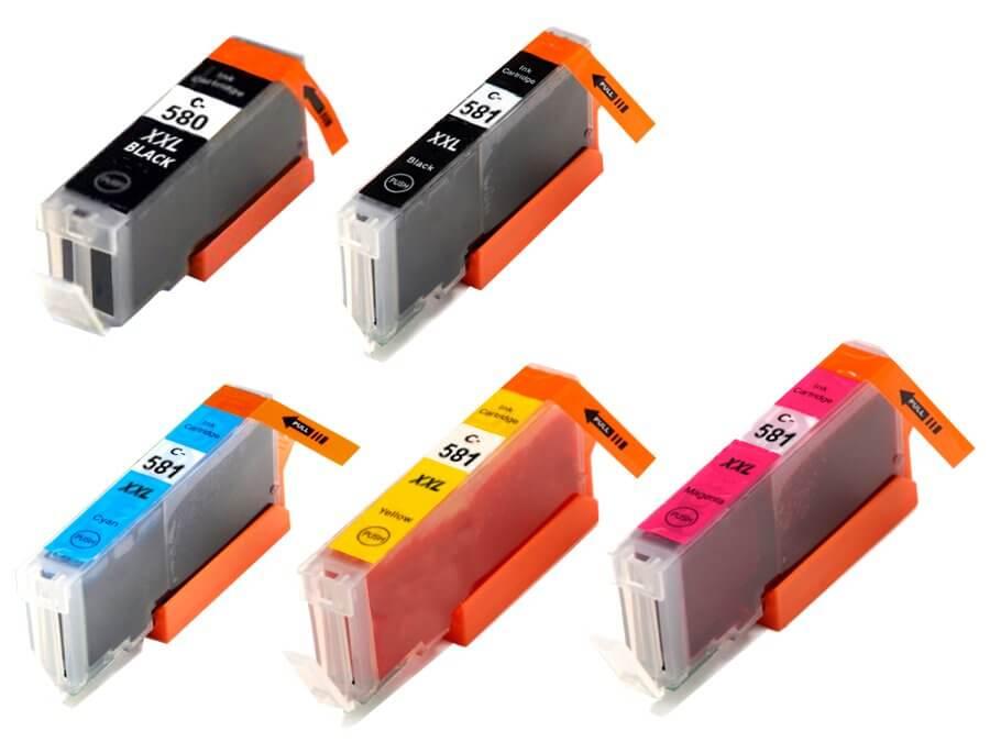 Kompatibilní inkoustová cartridge Canon PGI-580Bk CLI-581CMYK pro inkoustové tiskárny Canon