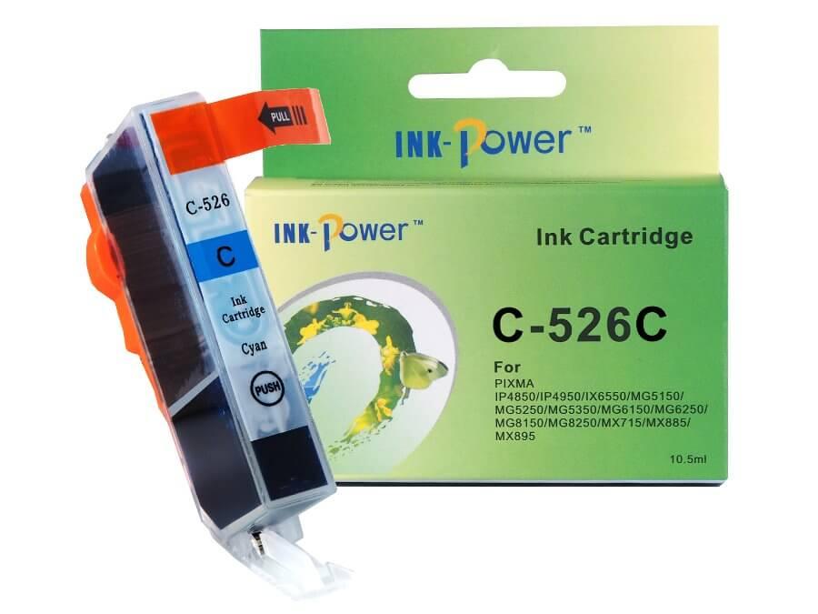 Kompatibilní inkoustová cartridge Canon CLI-526C pro inkoustové tiskárny Canon