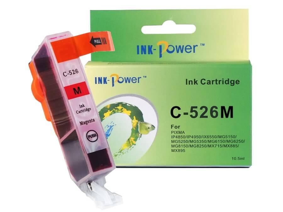 Kompatibilní inkoustová cartridge Canon CLI-526M pro inkoustové tiskárny Canon