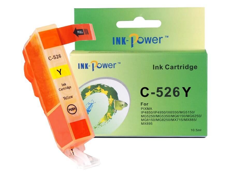 Kompatibilní inkoustová cartridge Canon CLI-526Y pro inkoustové tiskárny Canon