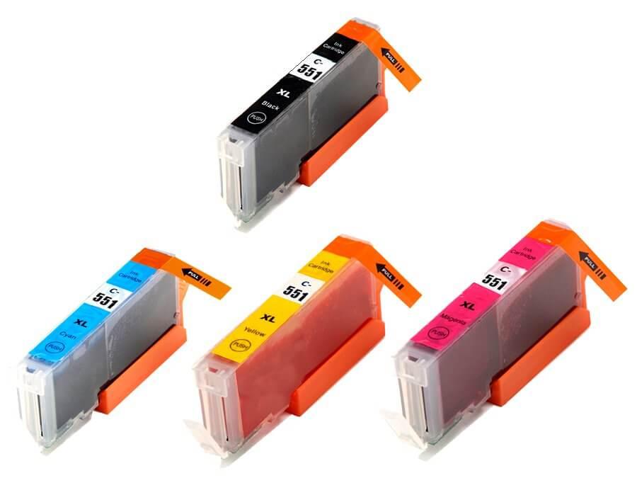 Kompatibilní inkoustová cartridge Canon CLI-551BkCMY XL pro inkoustové tiskárny Canon