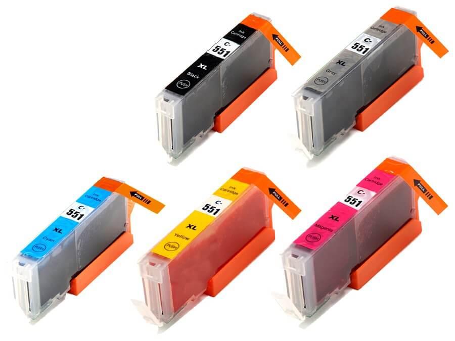Kompatibilní inkoustová cartridge Canon CLI-551BkCMYGY XL pro inkoustové tiskárny Canon