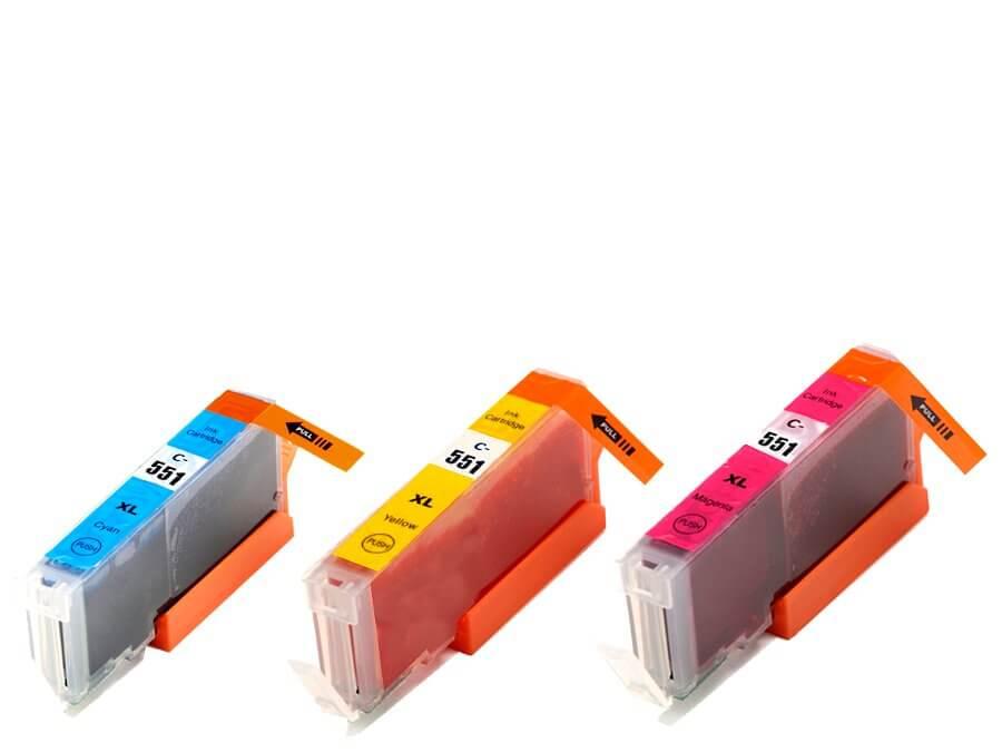 Kompatibilní inkoustová cartridge Canon CLI-551CMY XL multipack pro inkoustové tiskárny Canon
