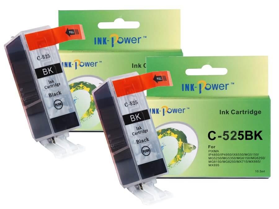 Kompatibilní inkoustová cartridge Canon PGI-525PGBk pro inkoustové tiskárny Canon - dvojbalení