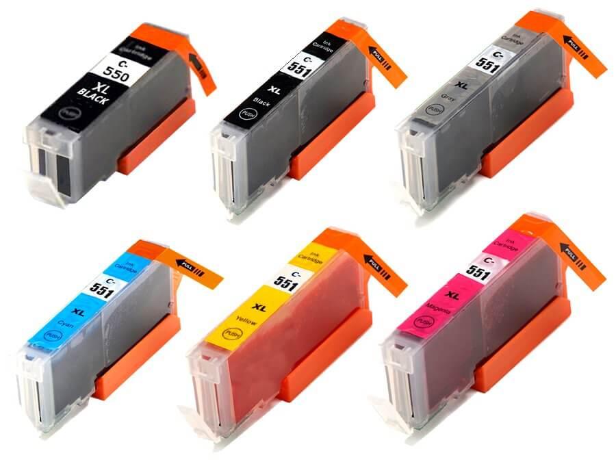 Kompatibilní inkoustová cartridge Canon PGI-550, CLI-551BkCMYGY XL pro inkoustové tiskárny Canon