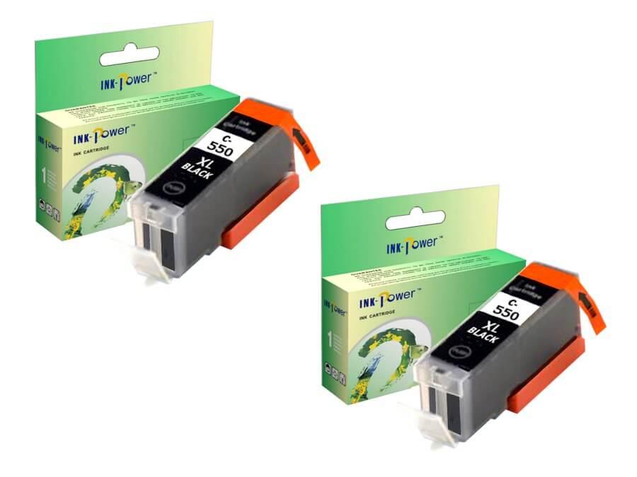Kompatibilní inkoustová cartridge Canon PGI-550PGBk XL 2 kusy pro inkoustové tiskárny Canon
