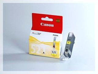 Originální inkoustová cartridge Canon 521Y, CLI-521Y pro inkoustové tiskárny Canon