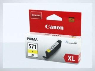 Originální inkoustová cartridge Canon 571Y, CLI-571Y XL pro inkoustové tiskárny Canon