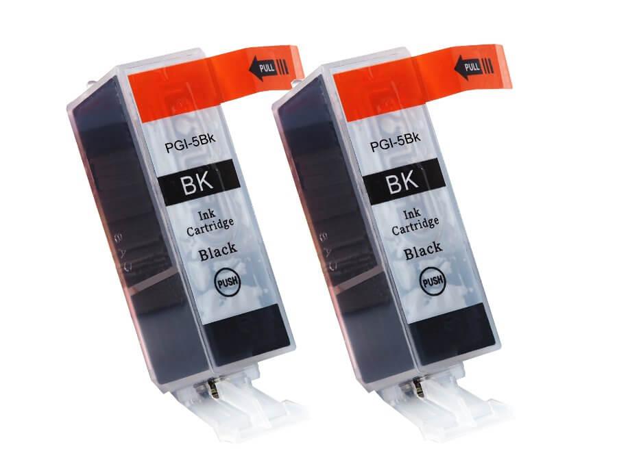 PGI 5Bk kompatibilní náplň  černá pro Canon dvojbalení